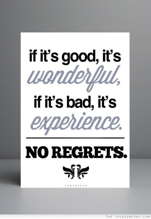 Si ça se passe bien c'est génial, si ça se passe mal, c'est une expérience !